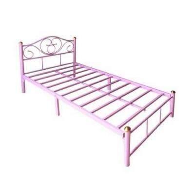 ขายดี!! เตียงเหล็ก ขนาด 3.5 ฟุต ขา 2 นิ้ว(สีชมพู) By Thongfurniture.