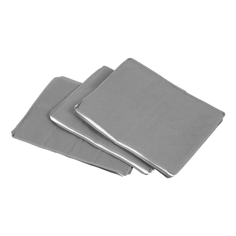 3Pcs Non-Woven Foldable Storage Box Family Save Space Clothes Organizer Home Quilt Storage Bag Quilt Bag Holder