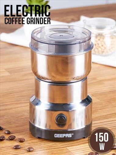 เครื่องบดกาแฟไฟฟ้าขนาดพกพา สำหรับบดเมล็ดกาแฟไปจนถึงธัญพืชต่างๆ.