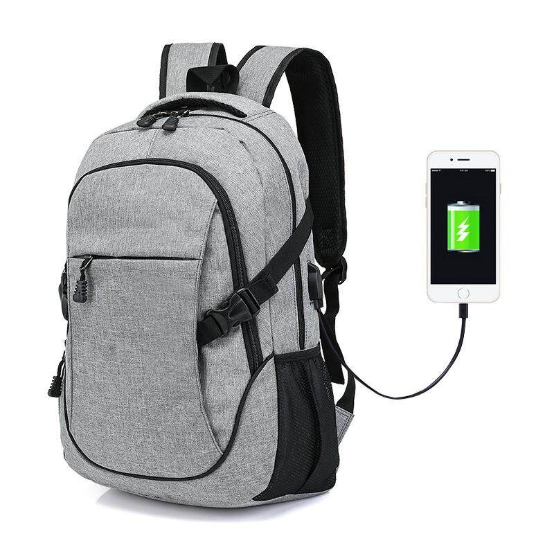 Lagobuy Multi-function USB Charging Laptop Oxford Cloth Backpack Male and Female Anti-theft Bag(High Capacity)