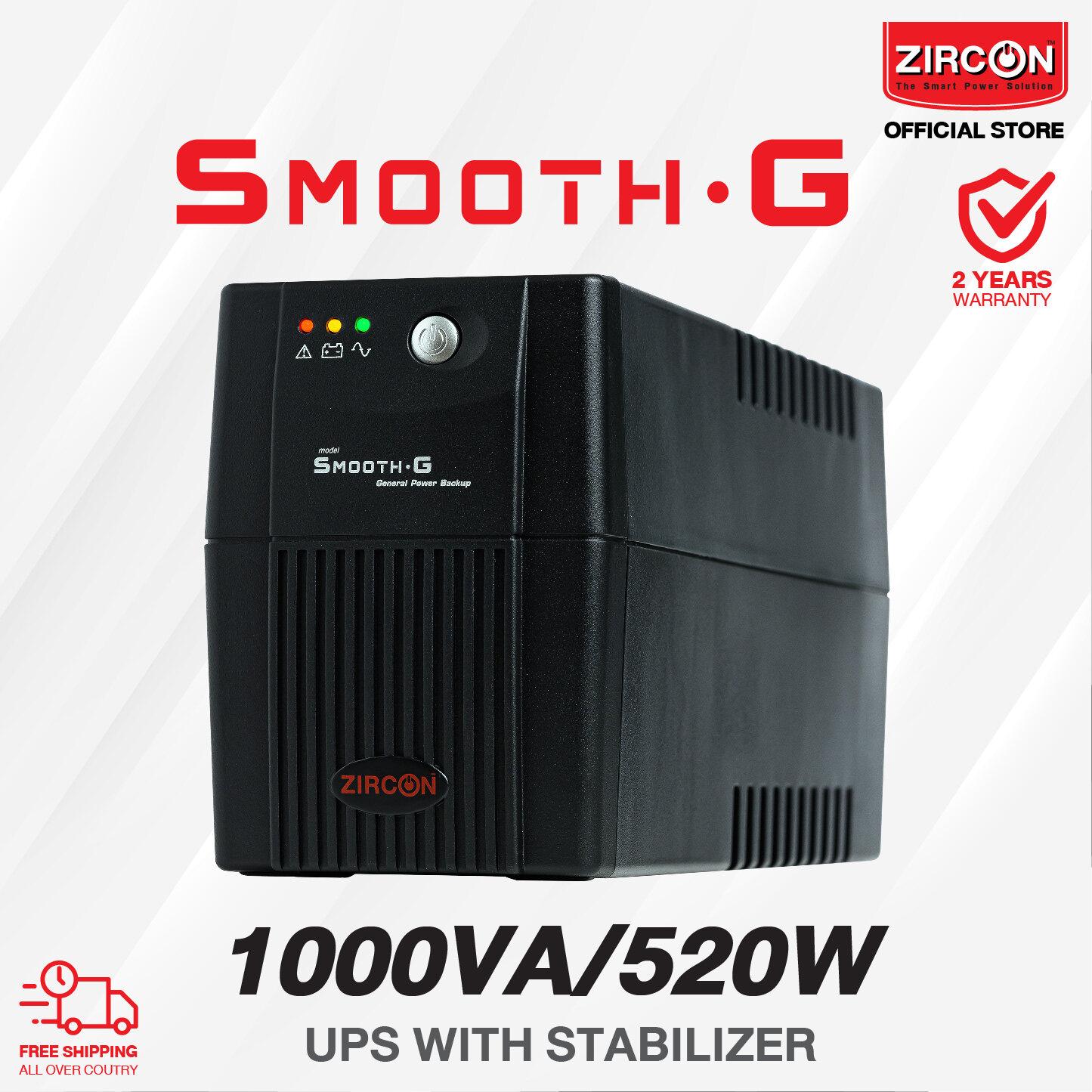 Smooth-G 1000va/520w Ups By Zircon ราคาสบายกระเป๋า สั่งซื้อผ่านทาง Official Store มั่นใจในคุณภาพและบริการหลังการขาย.