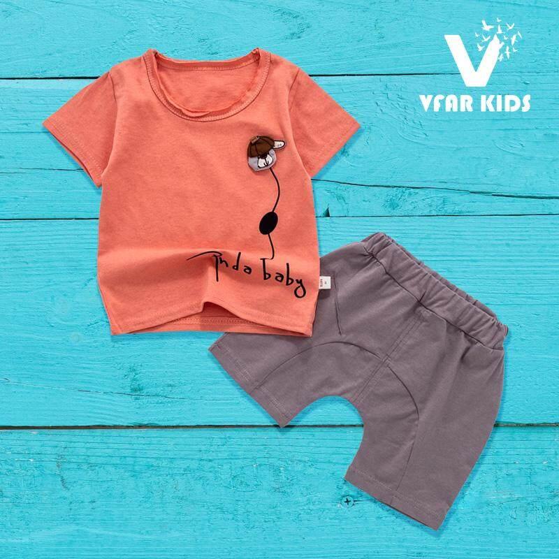 ราคา Vfar Kids ชุดเสื้อผ้าเด็กเข้าชุด ชุดเด็กผู้หญิง ชุดเด็กผู้ชาย ลายก๊วนสวมแก๊ป (0-3 Years)