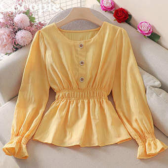 Cocopieเสื้อสตรีสไตล์เกาหลีผู้หญิงแขนยาวยางยืดขอบกางเกงสำหรับเสื้อผ้าใส่สบายๆของผู้หญิงเสื้อสตรี
