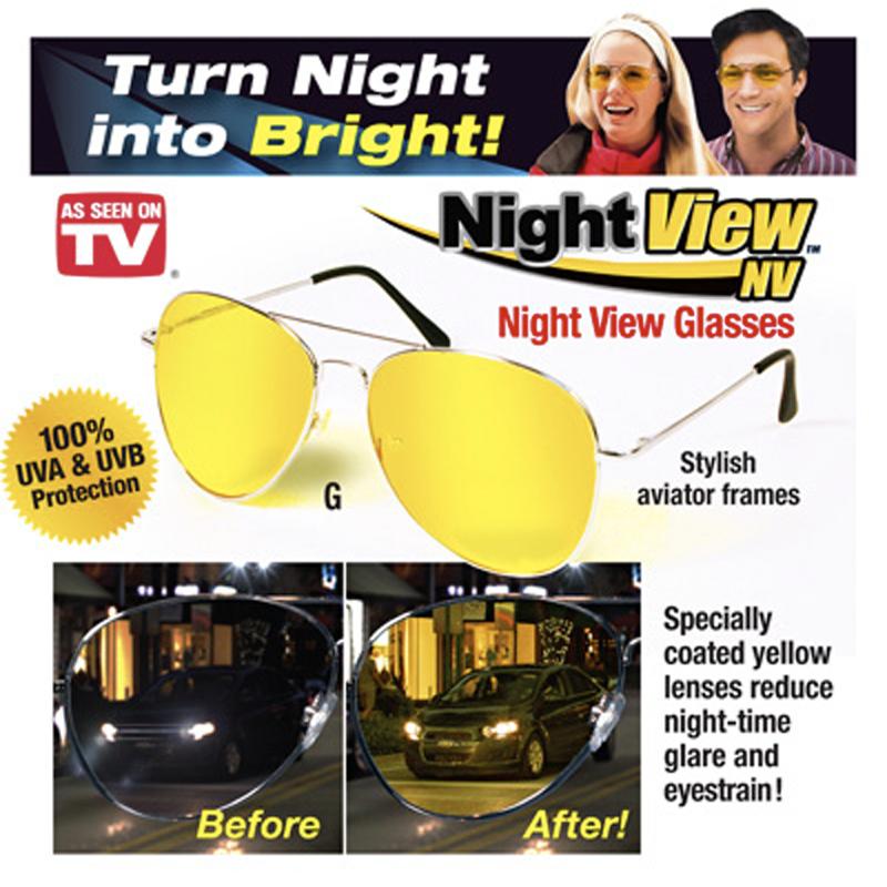 แว่นตาขับรถกลางคืน แว่นตาตัดหมอก ขายส่งยกโหล 12 กล่อง.