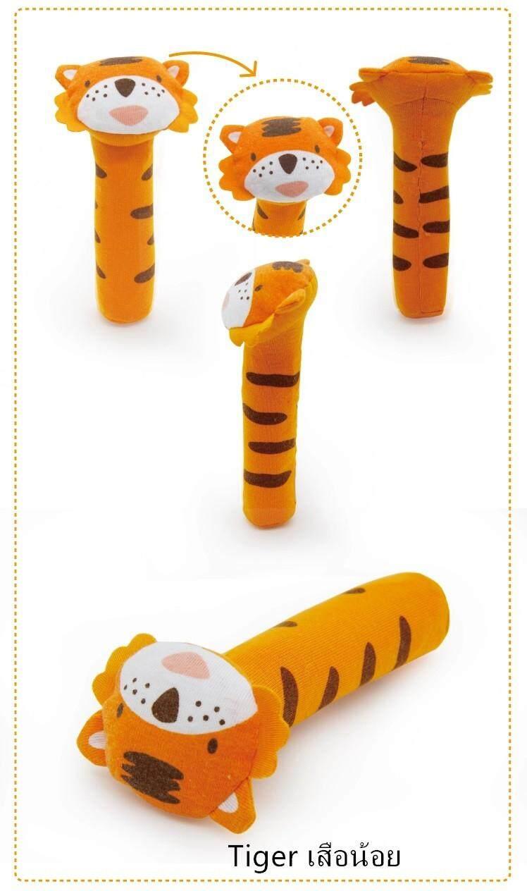 Soft Sound Animal Handbells X1 Plush Squeeze Rattle For Newborn Baby Toys ตุ๊กตา ตุ๊กตามือจับ ของเล่นเด็ก โมบายตุ๊กตามือจับ มีเสียง ลายสัตว์ต่างๆ By Mammy Baby.