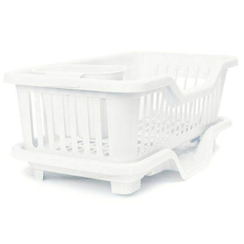 Kitchen Sink Dish Plate Utensil Drainer Drying Rack Holder Basket Organizer Tray, Blue By Ycitc.