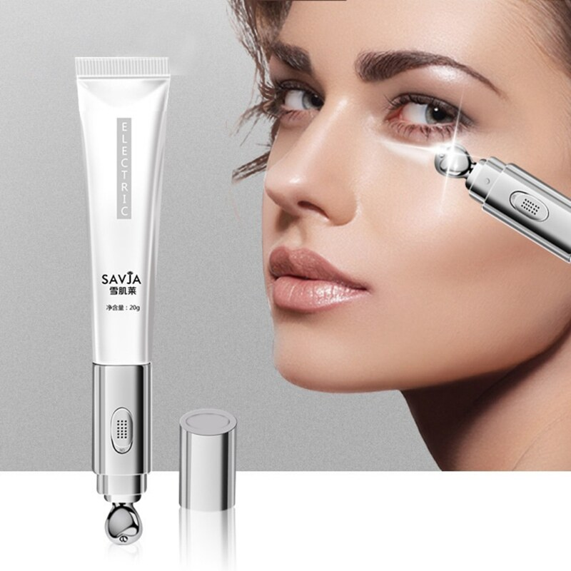 Electric Massager Eye Cream Anti-Wrinkles Remove Eye Bags Dark Circles Eye Balm Moisturizing Firming Lifting Skin Plant Extract.