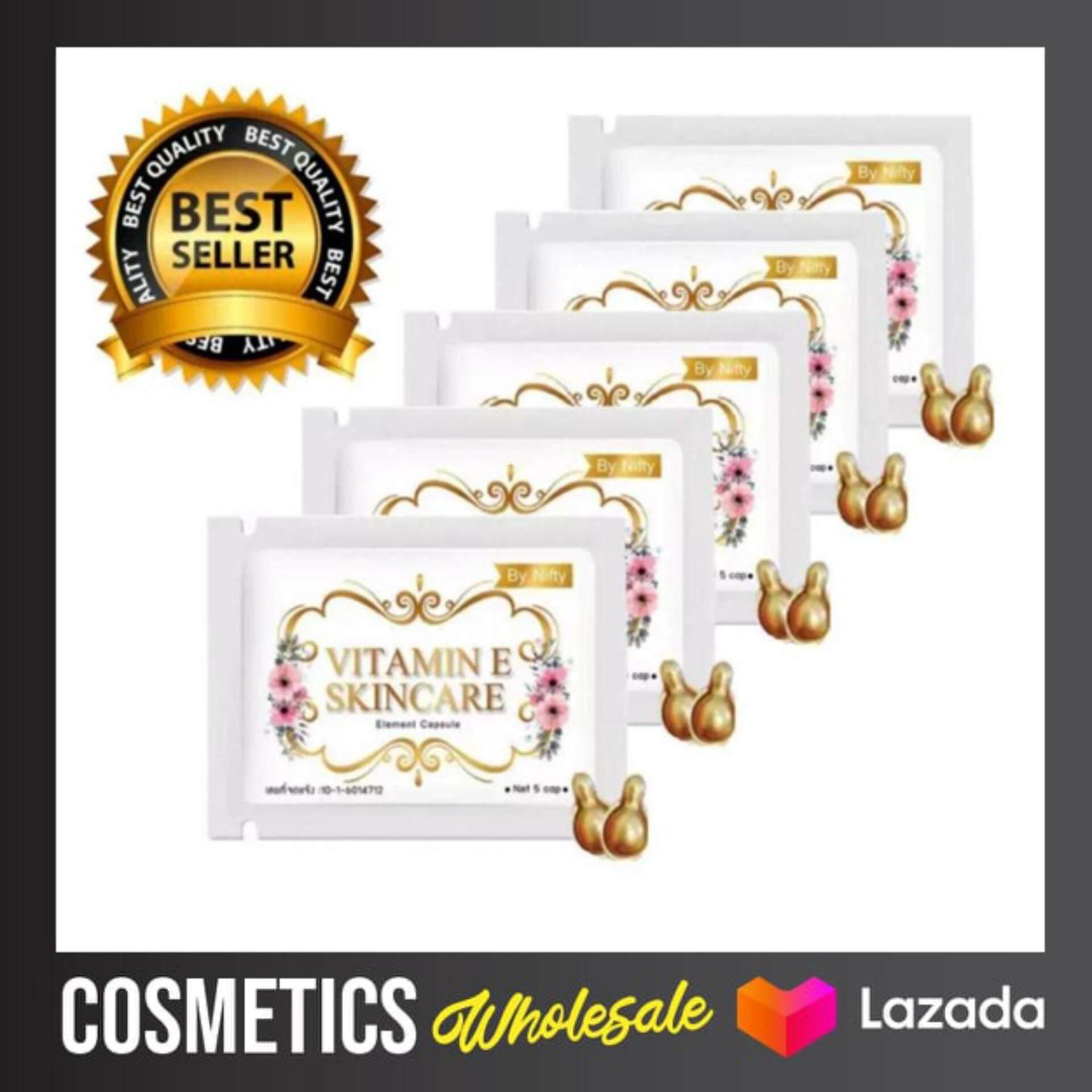 ( 5 ซอง/แท้/พร้อมส่ง) วิตามิน อี บำรุงผิวหน้า vitamin E skin care by nifty Nifty ทาหน้า