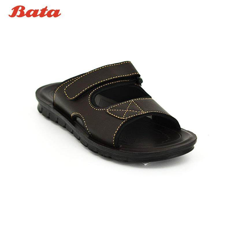 BATA MEN'S SUMMER รองเท้าแตะแบบสวม CONTEMPORARY สีน้ำตาล รหัส 8614363 / สีดำ รหัส 8616363