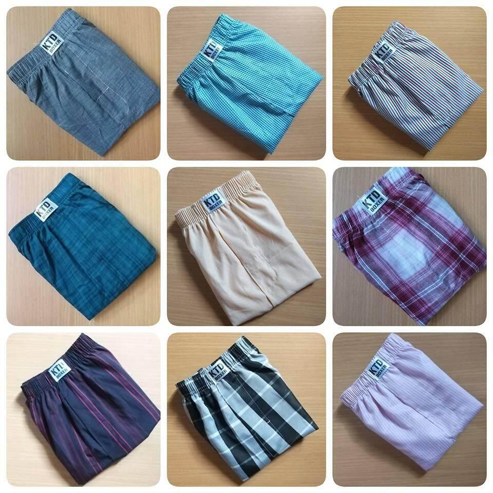กางเกงบ็อกเซอร์ขนาดฟรีไซร้ Set 9ตัว 400บาท By Jajar Shopping.