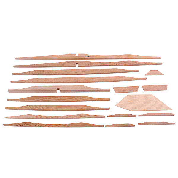 17Pcs Spruce Brace Wood Kit Light Brown Professional 41 Inch Guitar Parts Luthier DIY Kit Wood Kit for Guitar
