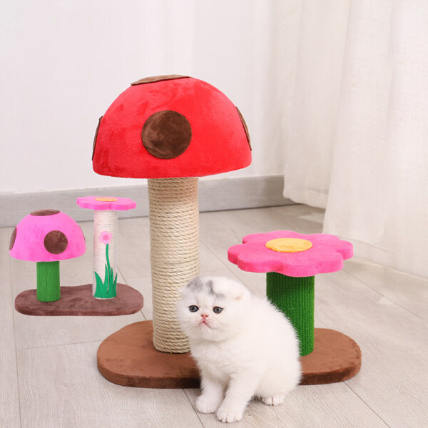 CBT Kitten House Cat Toys Mushroom Scratching Toy Cat Climbing Frame Activity Tree Cat Scratching Post Cat Tree Tower