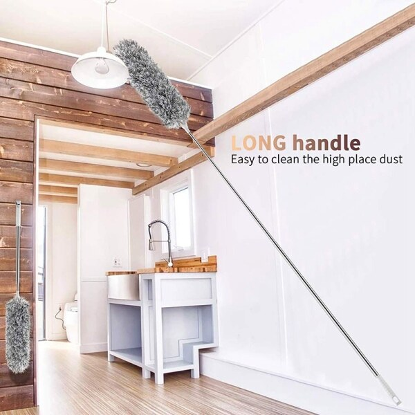Bảng giá Minifiber Duster with Telescoping Extension Pole Non-Scratch, Bendable, Washable, Hypoallergenic, Lint Free Dusters for Cleaning Ceiling Fan, Blinds, Cobwebs, Baseboards Điện máy Pico