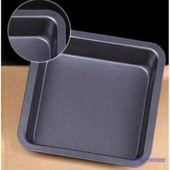 S2W แม่พิมพ์ขนม ถาดอบขนม ถาดอบขนมเค้ก บราวนี่ ขนาด 22.5*22.5*4.5cm (Non-Stick)-