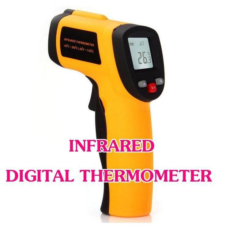 เทอร์โมมิเตอร์ระยะไกล เครื่องวัดอุณหภูมิอินฟราเรด Non-Contact Infrared Thermometer วัดแบบไม่สัมผัส Thermometer By Chaya10.
