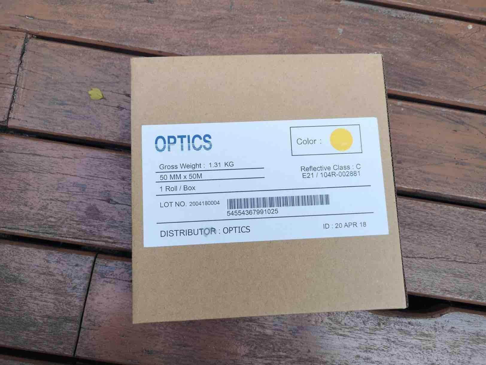 Sticker สะท้อนแสง Optics By Kaeme.