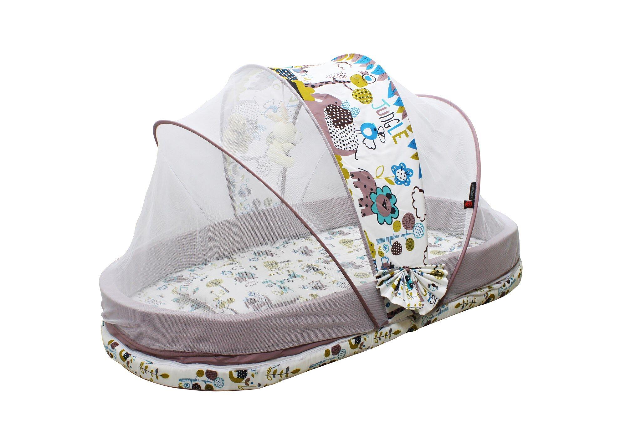 ชุดที่นอนเด็กพร้อมมุ้ง พกพาได้Camera Baby ขนาดใหญ่ รุ่น C-WC-13271