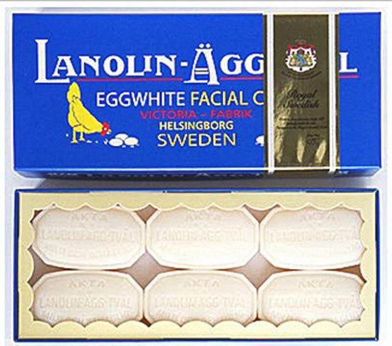 ส่งฟรี สบู่ไข่ขาว สบู่ไข่ขาวสวีเดน Victoria Sweden Egg White Facial Care 6 ก้อน ของแท้ 100% ส่งตรงมาจากสวีเดน