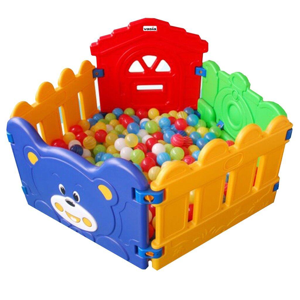 บ่อบอลคอกกั้นรูปหมีน้อยอุปกรณ์สำหรับเด็ก เฟอร์นิเจอร์ที่นอนสำหรับเด็ก ของเล่นสะสม ของเล่นเสริมพัฒนาการ  ของเล่นสำหรับเด็ก ราคาถูก.