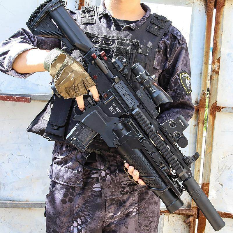 HK416 Water Bomb Gun Simulation Toy Gun Sniper Manual Rifle Children Boys Outdoor Manual Shooting Toy