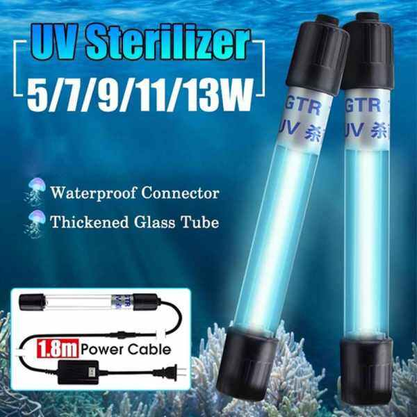 Bảng giá YEAHGIRL Clean Pond Fish Tank 110V/220V Germicidal Light uv sterilizer lamp Aquarium Submersible UV Light Ultraviolet Lamp Sterilizer Light