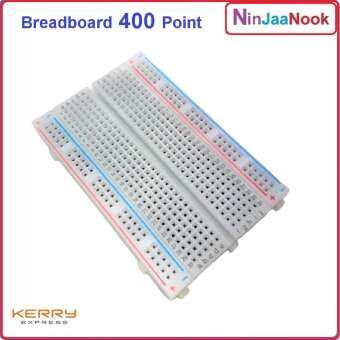 บอร์ดทดลอง 400 จุด Breadboard 400 Point Solderless PCB Bread Board Test Develop DIY IOT WIRE JUMPER arduino esp 8266 โฟโต้บอร์ด ช่อง connector