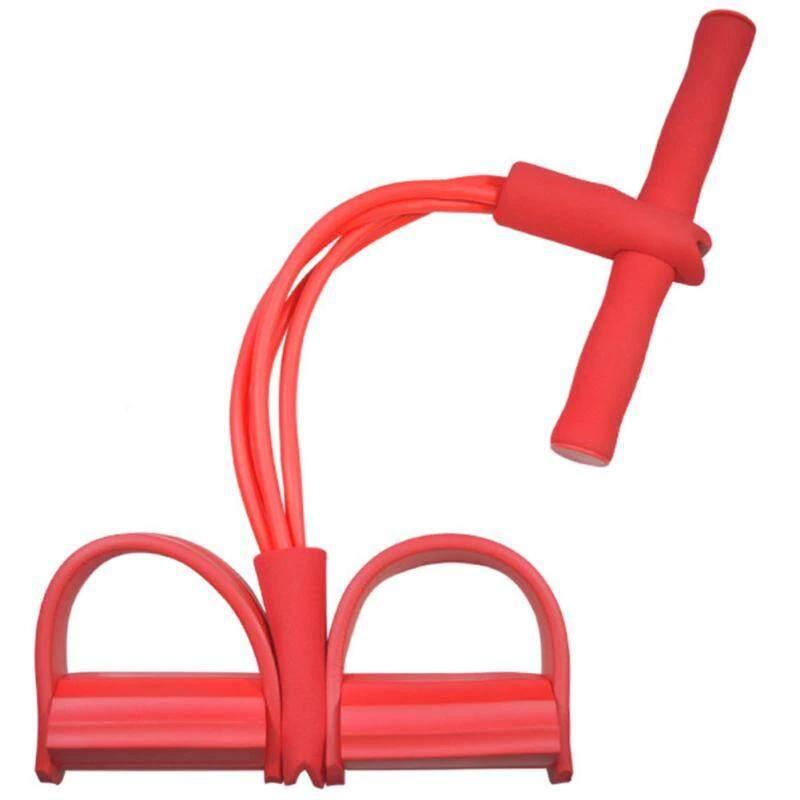 ยางยืดออกกำลังกาย อุปกรณ์ออกกำลังกายในบ้าน ด้ามจับเป็นโฟมไม่เจ็บมือ.