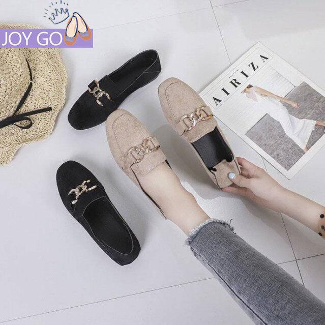 OMS Kích Thước Lớn Giày Nữ Đáy Phẳng Retro Hoang Dã Phong Cách Mặc Giày Lười giá rẻ