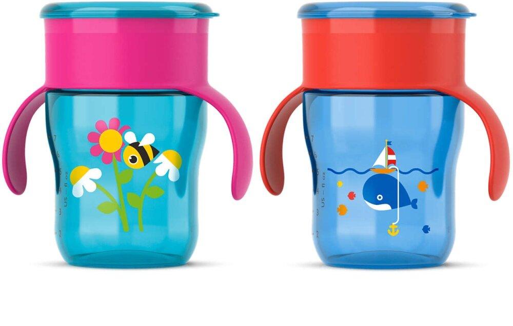 ซื้อที่ไหน Phillips Avent ถ้วยหัดดื่ม 9 oz (260 ml) ถ้วยหัดดื่ม 9m+ สำหรับน้องอายุ 9 เดือนขึ้นไป My First big Kid Cup