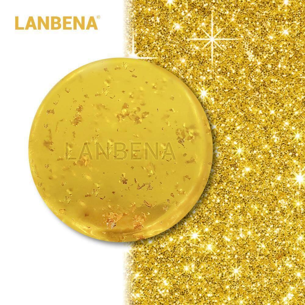 LANBENA สบู่ล้างหน้า สบู่หน้าใส ให้ความชุ่มชื้น ต่อต้านริ้วรอย 24K Gold Handmade Soap Anti-Aging Seaweed Deep Cleansing Moisturizing Nourishing Whitening Anti-Wrinkle Beauty Face Care