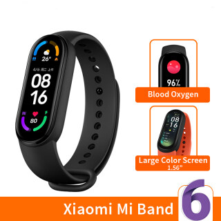 Vòng đeo tay thông minh Xiao mi Mi Band 6 5 Màu màn hình AMOLED Mi Band 6 Bluetooth chống nước theo dịp nồng đồ oxy máu vận động thumbnail
