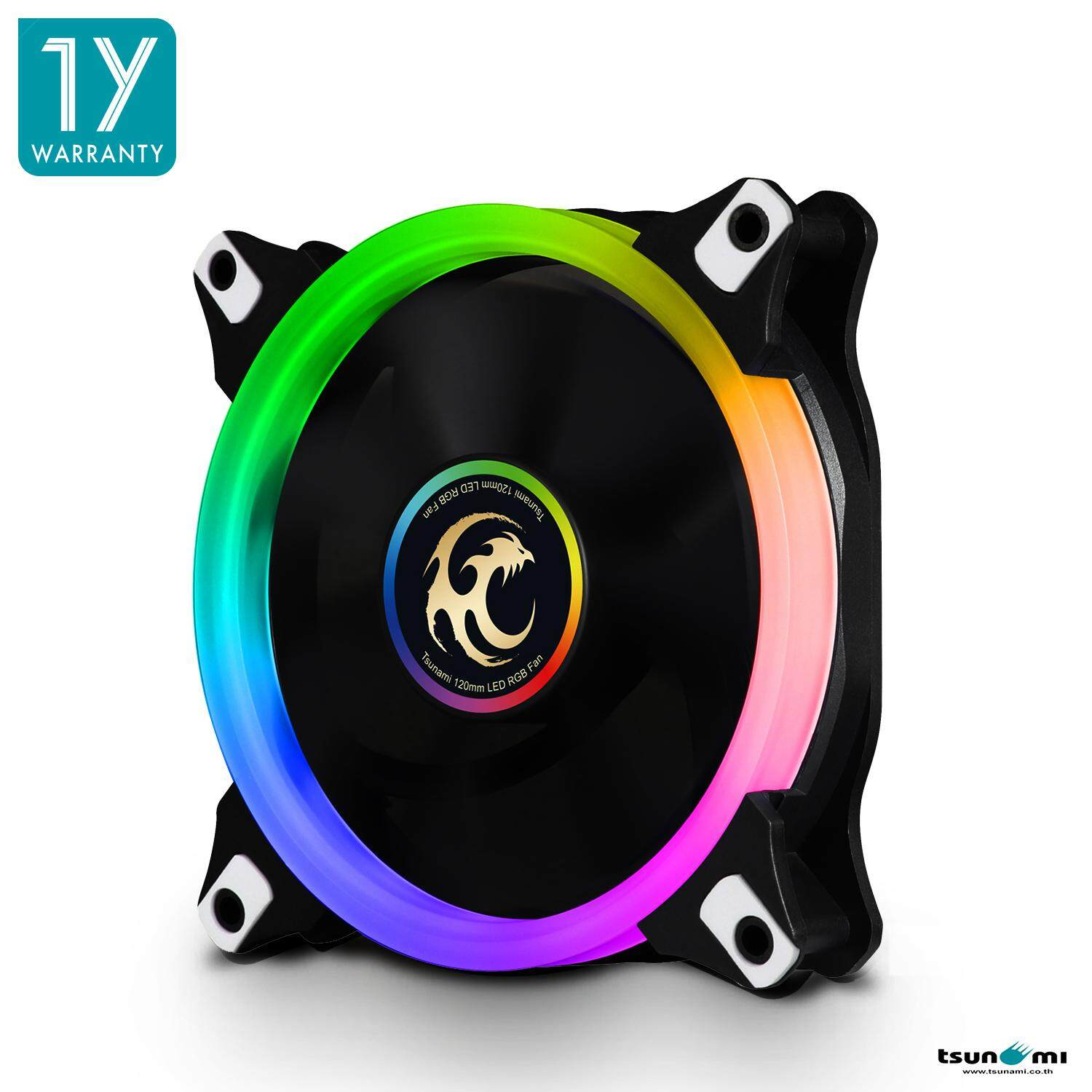 (ชุดเพิ่มเติม) (no Hub/no Remote) Tsunami Circle Series Mono-Rim Rgb-120 Rgb Fan X1 By Fun Republic Co.,ltd..