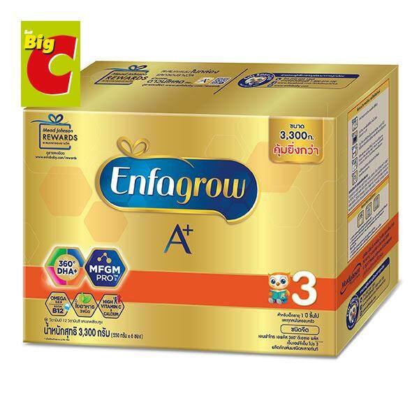รีวิว Enfagrow A+ เอนฟาโกร เอพลัส มายด์โปร Mindpro ดีเอชเอพลัส MFGM โปร 3 นมผงสำหรับเด็ก รสจืด 3300 ก. Plain Milk Powder Stage 3 by Big C