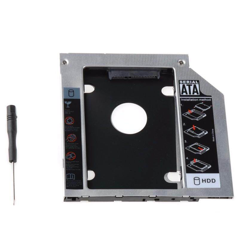 ถาดแปลง ใส่ Hdd Ssd ในช่อง Dvd Notebook 9.5mm Universal Sata 2nd Hdd Ssd Hard Drive Caddy.