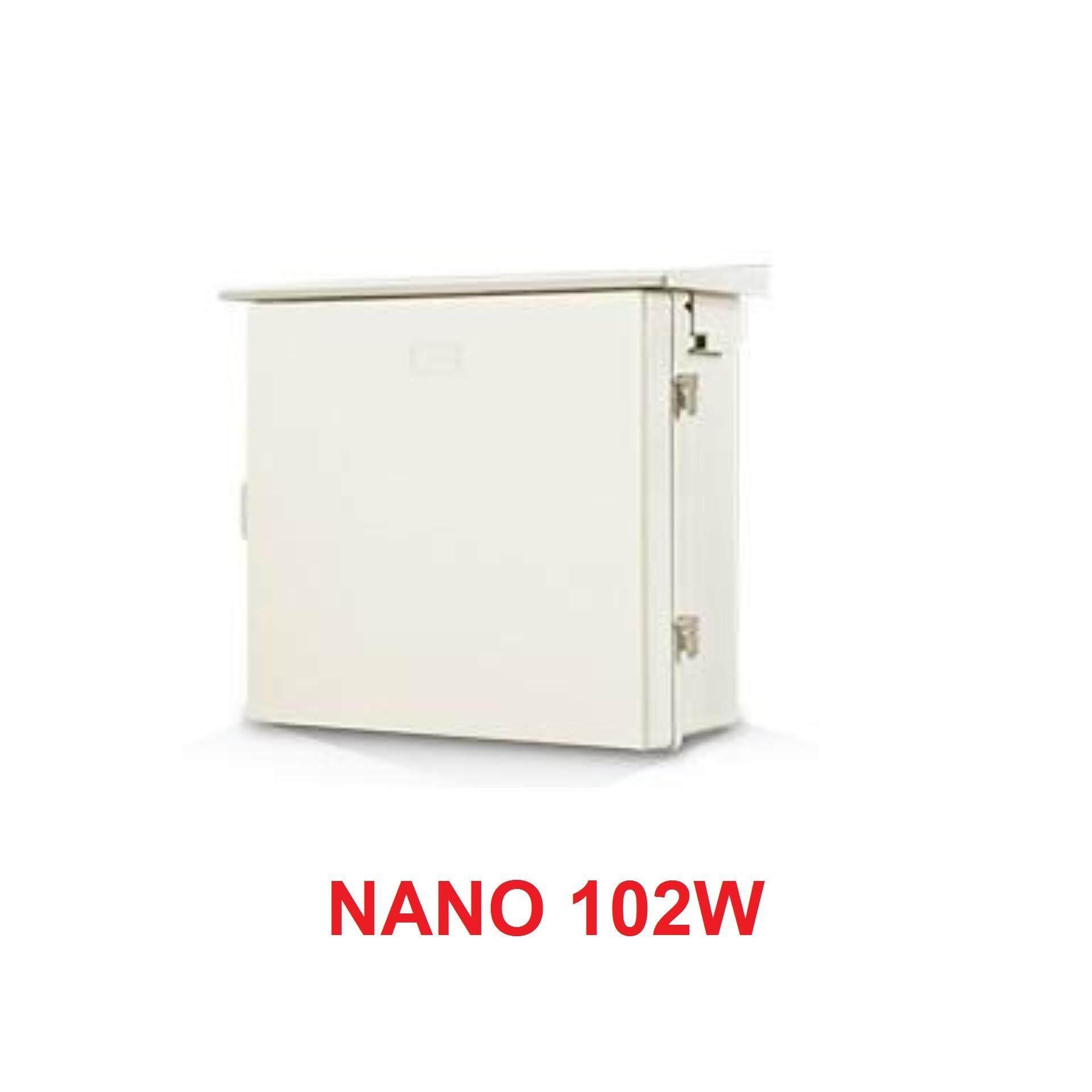 Nano ตู้พลาสติกกันน้ำ รุ่น Nano102w (ขนาด 32.8*29*16 Cm) ตู้พลาสติก กันฝน กันฝุ่น ตู้ พักสายไฟ ตู้เบรกเกอร์.