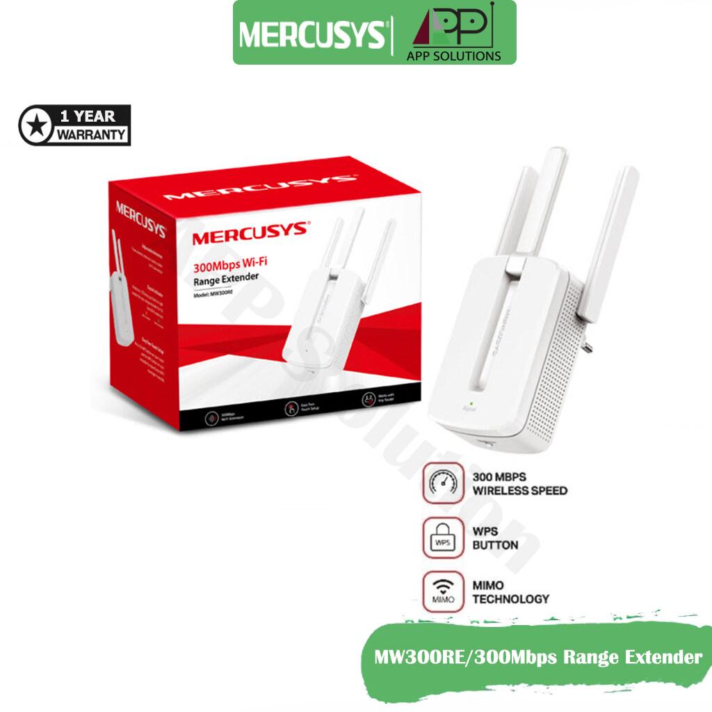 Mercusys Wi-Fi Range Extender 300mbp รุ่นmw300re(สินค้ารับประกัน1ปี)-App Solution.