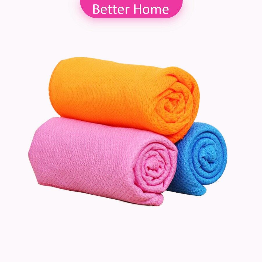 ผ้าขนหนูกีฬา ผ้าเย็นซับเหงื่อ ผ้าออกกำลังกาย พร้อมส่ง Sports Towel [a581].