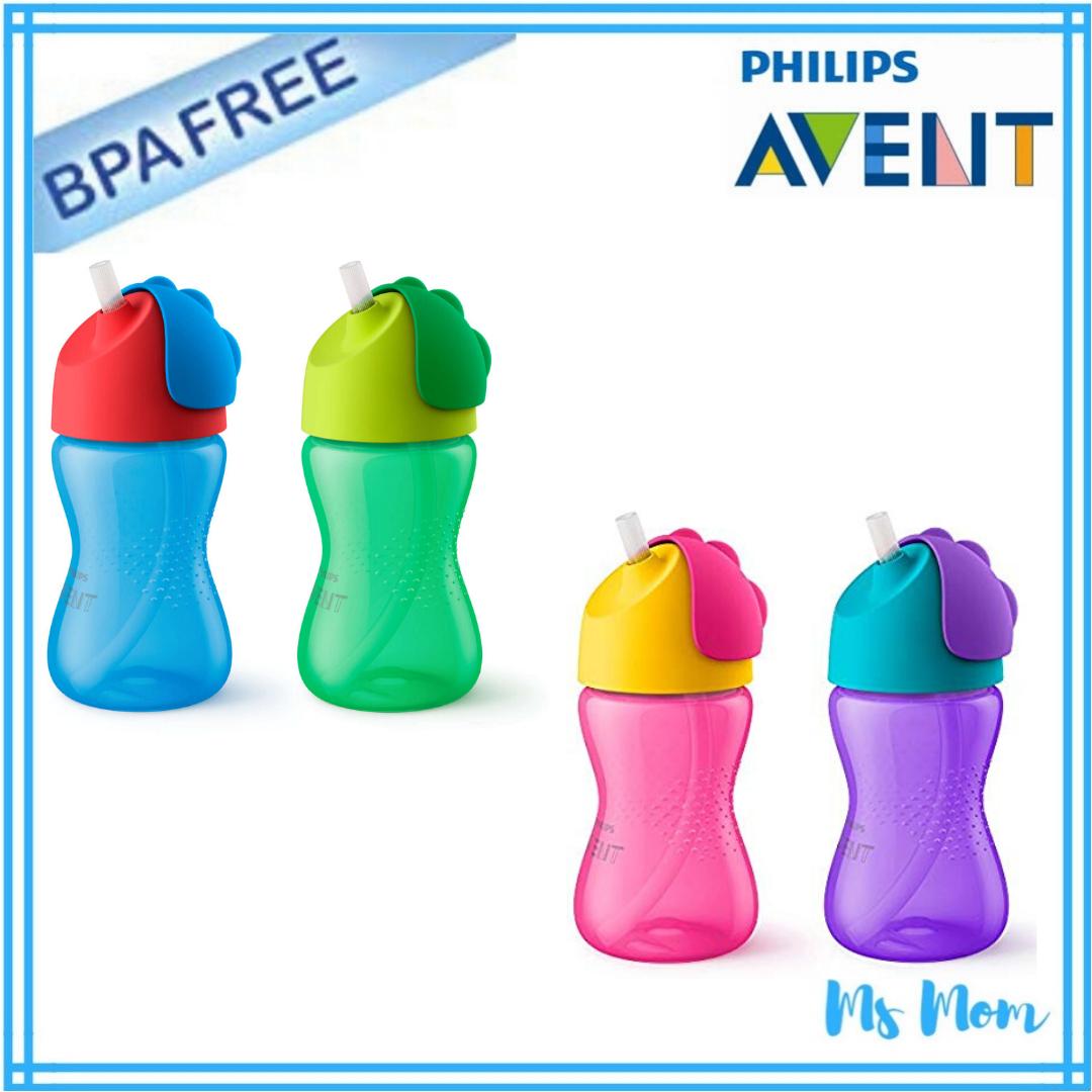 ซื้อที่ไหน ถ้วยหัดดื่ม Philips Avent รุ่น เบนดี้ (Avent My Bendy Straw Toddler Cup) ขนาด 10 ออนซ์ สำหรับ 12 เดือนขึ้นไป