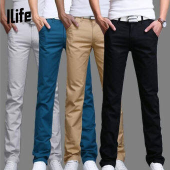 MSW799 กางเกงลำลองชายเกาหลีกางเกงสลิมตรงชายกางเกงลำลอง
