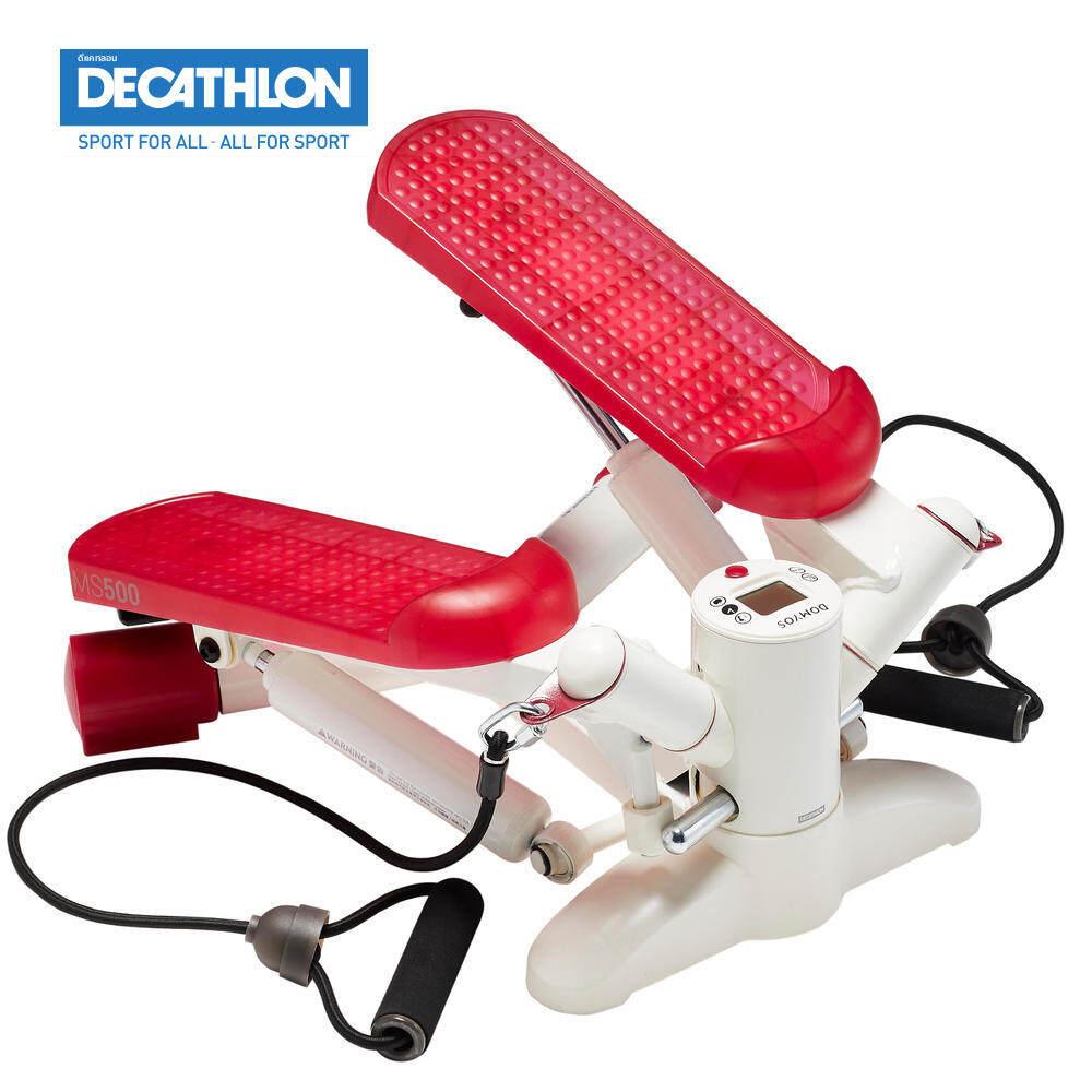 อุปกรณ์ออกกำลังกาย มินิสเต็ปเปอร์ Domyos Mini Stepperสีขาวชมพู รุ่นms500ดีแคทลอน.