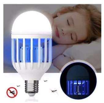 รายละเอียดสินค้า หลอดไฟ ไล่ กัน ป้องกัน ยุง แมลงต่างๆ 2in1 ใช้ได้เหมือนหลอดไฟปกติ E27 15W