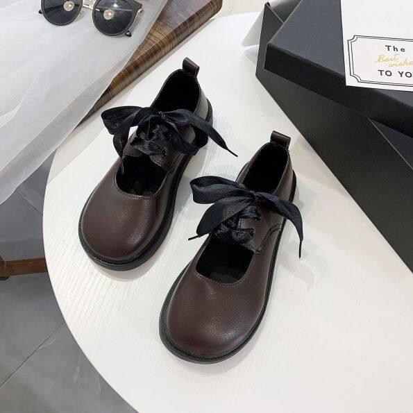 AYF930 Giày Đồng Phục JK Mũi Vuông Giày Da Ulzzang Đa Năng Phong Cách Hàn Quốc Phong Cách Nhật Bản Phong Cách Lolita Ins Học Sinh, Nữ giá rẻ