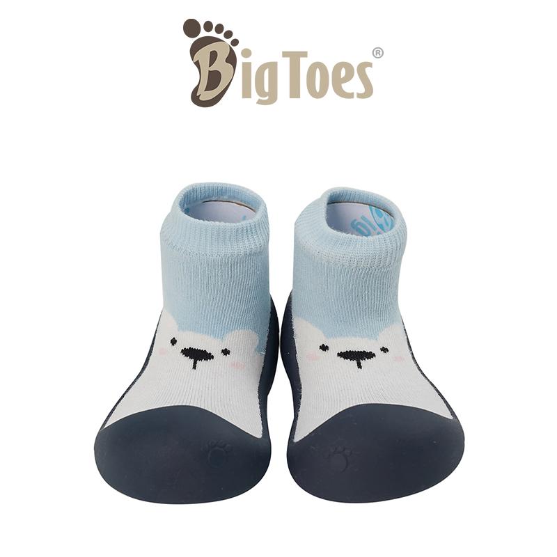 ราคา รองเท้าหัดเดิน รองเท้าเด็ก Bigtoes ลาย White Bear Sky (สีฟ้า) รองเท้าเด็กอ่อน