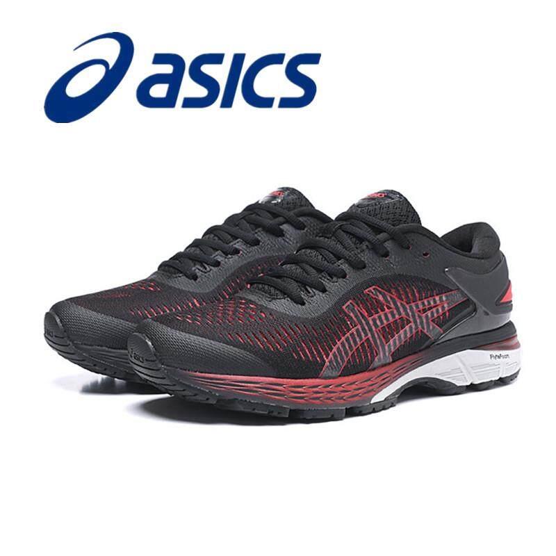 642b896dc5 Asics Gel Kayano 25 LITE-SHOW Men's Running Shoes Lightweight Black Red  40-45