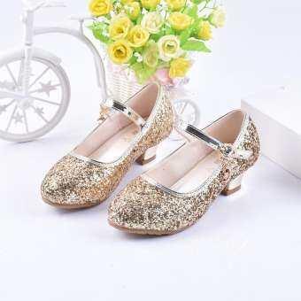 รองเท้าเต้นรำเด็กผู้หญิง 2018 เสื้อผ้าแฟชั่น เสื้อผ้าแฟชั่น ใหม่ 6789 ปีดูสาวดูงานแสดงแฟชั่นเจ้าหญิงรองเท้าส้นสูง 58 กลางแจ้งรองเท้า