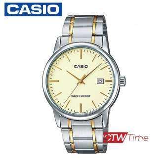 ส่งฟรี !! Casio Standard นาฬิกาข้อมือสุภาพบุรุษ สายแสตนเลส รุ่น MTP-V002D-7BUDF - สีเงิน