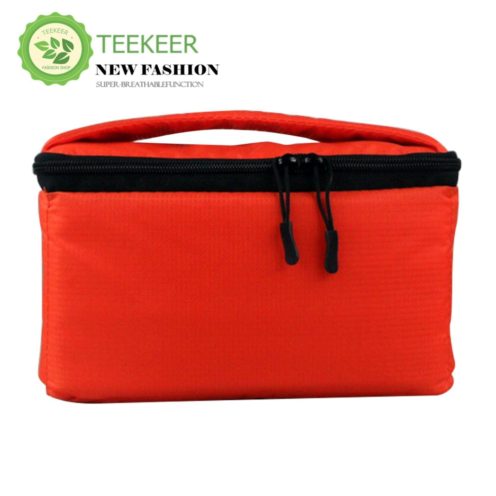 Teekeer DSLR Camera Insert Case Shockproof Waterproof Padded Partition Protective Bag Cover Travel For Sony Canon Nikon Olympus Pentax And More (Orange)
