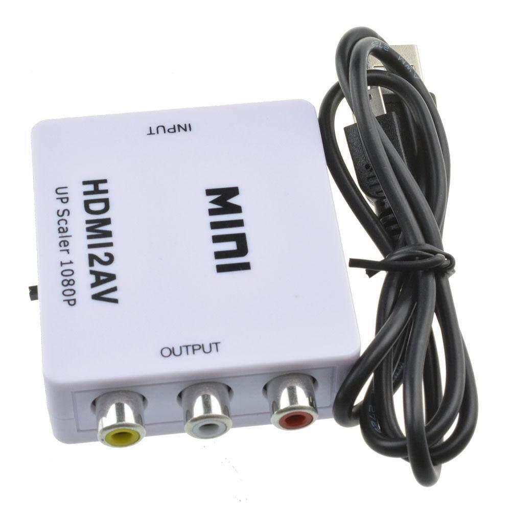 Hdmi To Av Up To Converter 1080p (white).