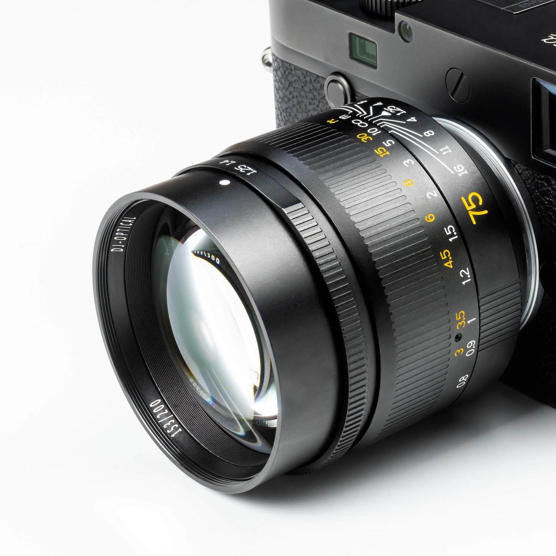 เลนส์มือหมุน 7artisans 75mm F1.25 เมาท์ Leica M เลนส์สำหรับกล้อง Leica M Mount เช่น Leica M1 M2 M3 M4 M6 M6 Ttl M7 M8 M9 M10 Mp M9p M10p M240 M240p Me M262 Mp-240 ( เลนส์ ฟลูเฟรม ) ( Full Frame Lens ) ( ( 75 Mm 1.2 / F 1.25 ไลก้า Fullframe ).