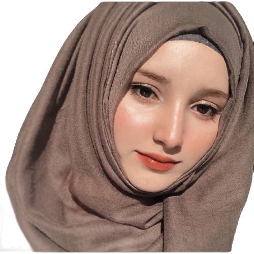 (ระบุสีในแชท) ผ้าคลุุมฮิญาบ ฮิญาบมุสลิม ผ้าพันยาว วิสคอสแบบเรียบ สีพื้น พันเอง ขนาด 180 X 75 Cm.